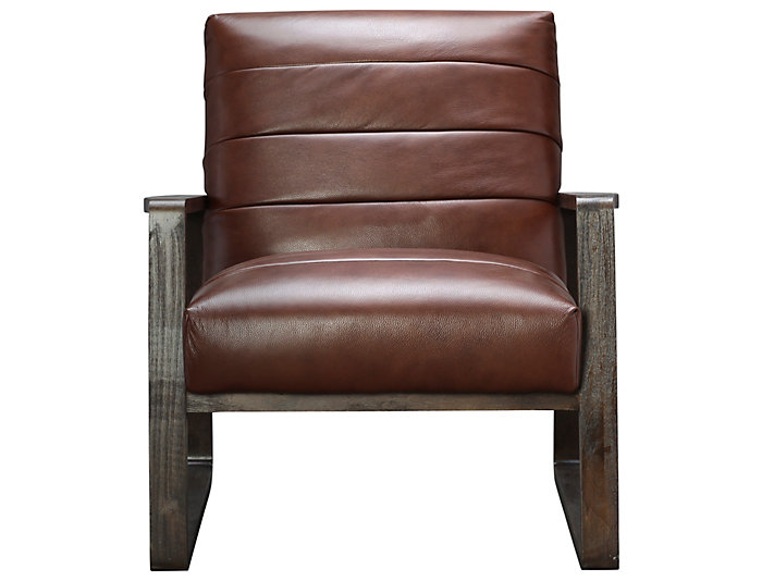 Fine Roma Genuine Leather Aldo Accent Chair Art Van Home Ibusinesslaw Wood Chair Design Ideas Ibusinesslaworg