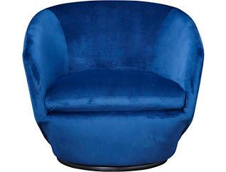 Marielle Navy Swivel Chair, Blue, large