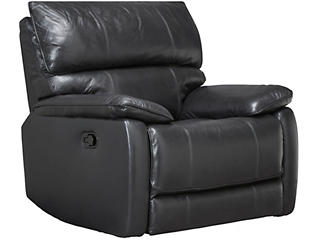 Sloan Leather Recliner, Black, , large