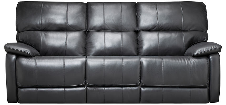 Sloan Black Power Reclining Leather Sofa