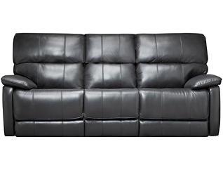 Sloan Power Reclining Leather Sofa, Black, , large
