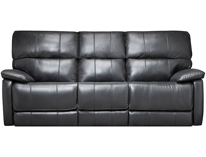 Sloan Reclining Leather Sofa Black Large