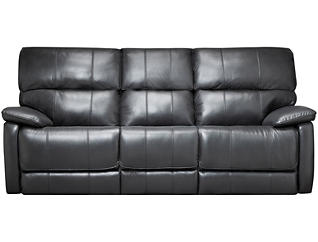 Sloan Reclining Leather Sofa, Black, , large