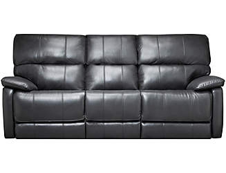 sloan reclining leather sofa