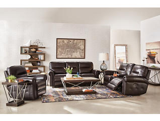 Rico Reclining Leather Console Loveseat, , large