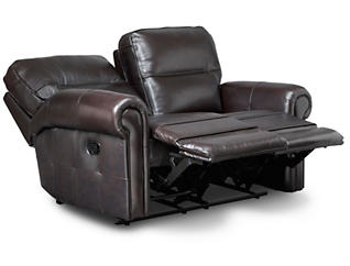 Rico Reclining Leather Loveseat, , large