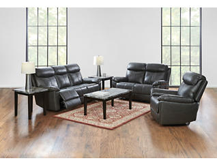 Liam Power Leather Recliner, , large