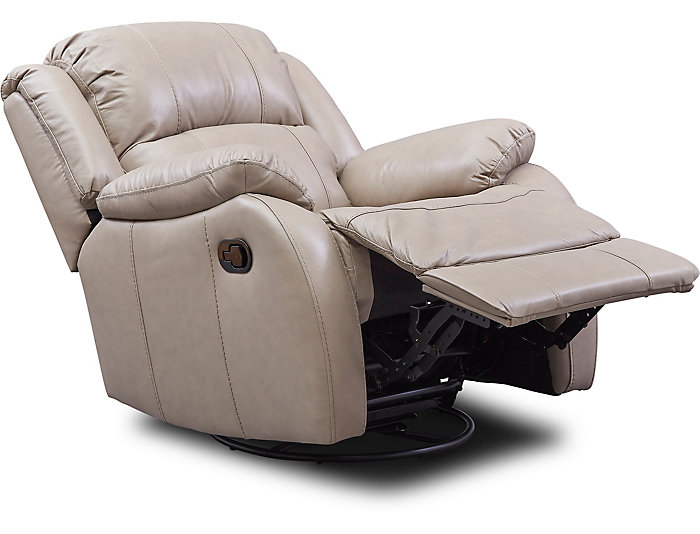Brilliant Luke Sand Swivel Glider Leather Recliner Art Van Home Machost Co Dining Chair Design Ideas Machostcouk