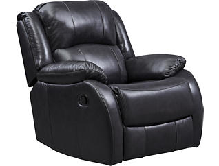 Luke Leather Swivel Glider Rcl, , large