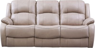 Luke Dual Power Reclining Leather Sofa, Beige, swatch