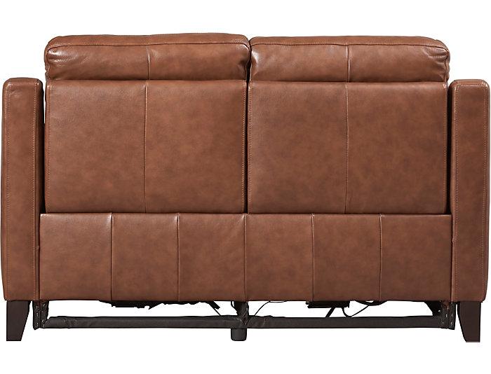 Marvelous Sienna Cognac Dual Power Leather Reclining Loveseat Art Machost Co Dining Chair Design Ideas Machostcouk