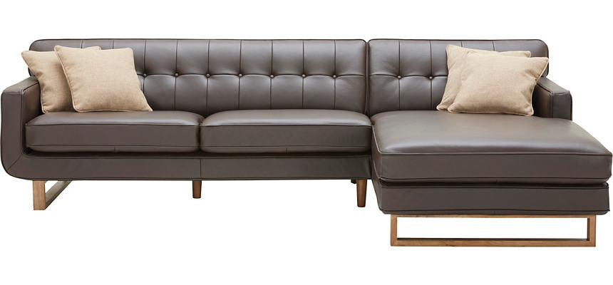 Positano 2 Piece Left-Arm Facing Leather Sofa Sectional