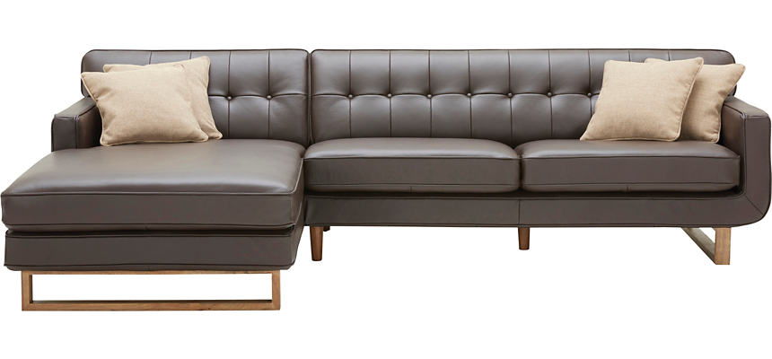 Positano 2 Piece Right-Arm Facing Leather Sofa Sectional