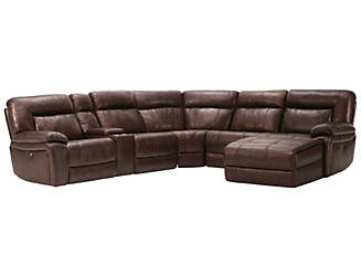 Arlo Power Leather Sectional