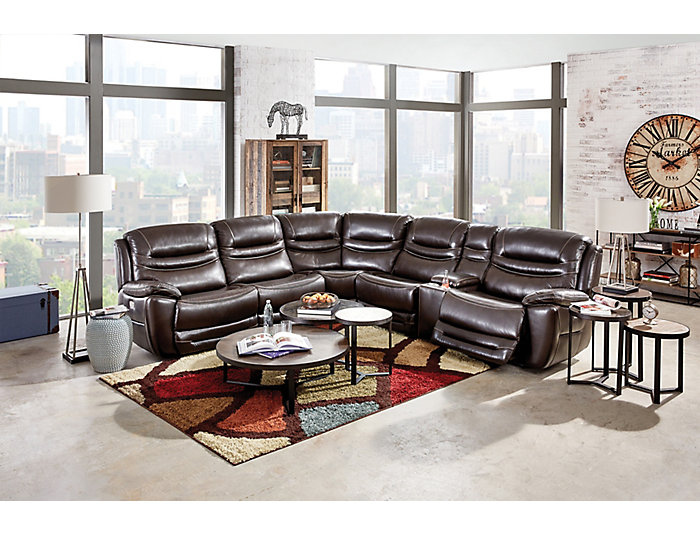 6 Piece Sectional W/Dual Power, , large