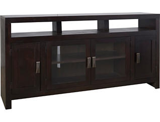 "Nash 62"" Cappuccino TV Stand, Dark Brown, large"