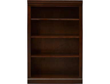 "48"" Cappuccino Bookcase, Brown, large"
