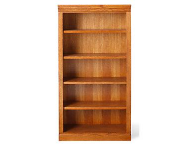 """60"""" Burnished Oak Bookcase, , large"""