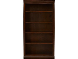 "60"" Cappuccino Bookcase, Brown, large"