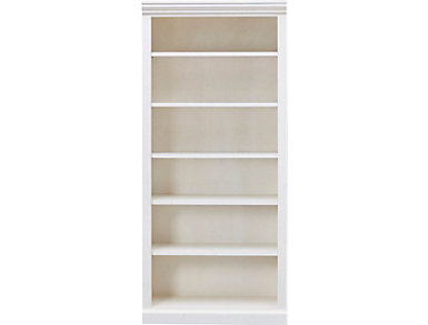 "72"" Dana White Bookcase, White, large"