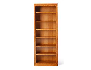 """84"""" Burnished Oak Bookcase, , large"""