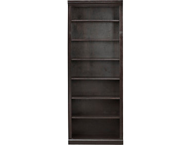 """84"""" Cappuccino Bookcase, Brown, large"""