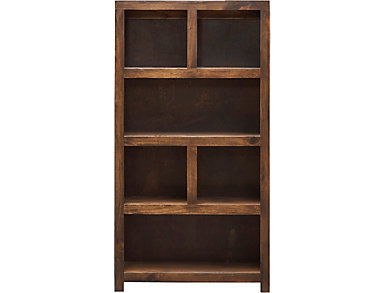 """60"""" Cafe Brown Display Bookcase, , large"""