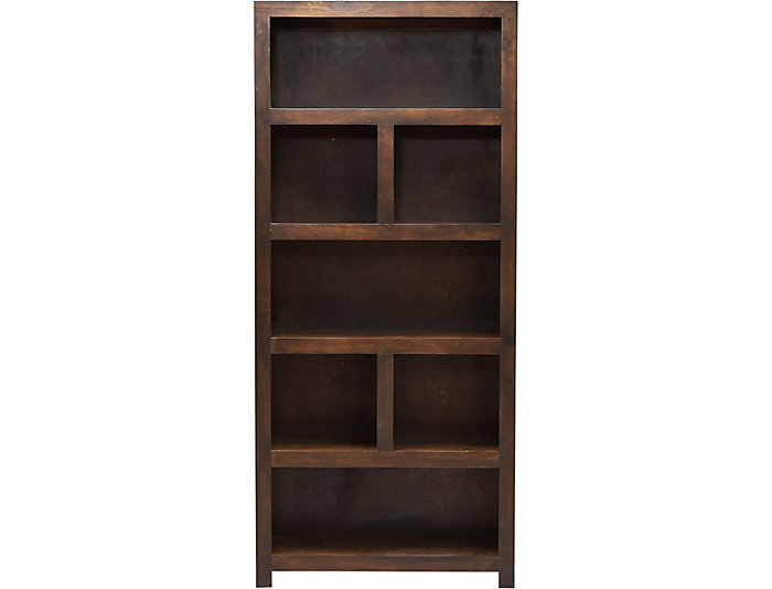 """72"""" Cafe Brown Display Bookcase, , large"""