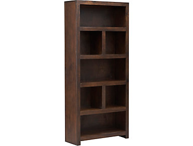 "72"" Cafe Brown Display Bookcase, Brown, large"