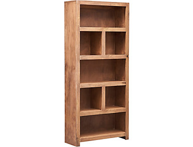 "72"" Display Bookcase, Grey, large"