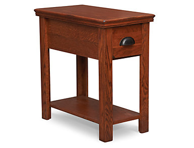 Chairside Table 1 Drawer Burnished Oak