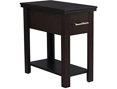 Chairside Table 1-Drawer, Espresso, , large