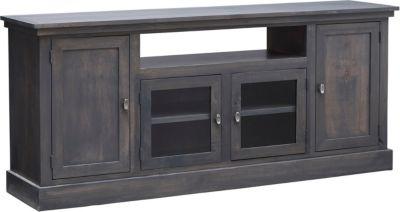 Dark Wood Tv Credenza : Three drawer contemporary tv credenza in dark oak mathis