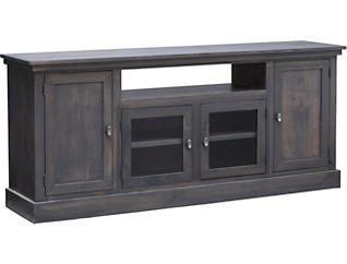 "Navarro 74"" Platinum TV Stand, Grey, large"