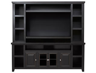 """Madison Wall with 85"""" Console, Black Matte, , large"""