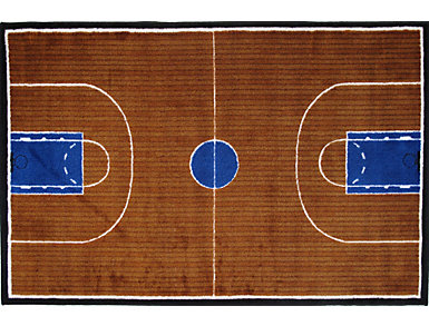 Basketball Court Rug Colection, , large