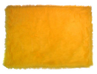 "Flokati yellow 39""x 58"" Rug, , large"