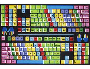 """FunTime Keyboard Rug 5'3""""X7'6"""", , large"""