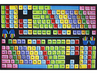 "FunTime Keyboard Rug 5'3""X7'6"", , large"