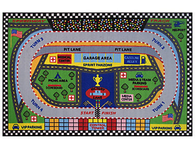 "Fun Time Speedway Rug 51""X78"", , large"