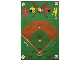 "Funtime Baseball Rug 39""X58"", , large"