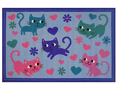 "FunTime Kitty Cats 3'3"" x 4'10"" Rug, , large"