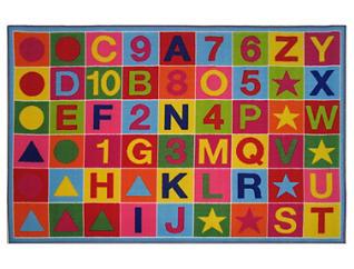 "Alphanumeric Fun Rug 6'8""X10', , large"