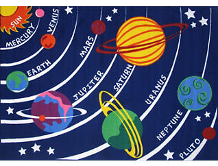 Solar System Rug 8'X11', , large