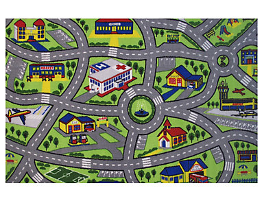 "Driving Fun Rug 51""X78"", , large"