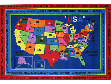 State Capitals Rug 8'X11', , large
