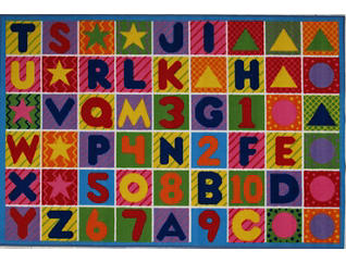 """Numbers & Letters Rug 31""""X47"""", , large"""