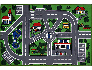 "Fun Time Streets Rug 5'3""X7'6"", , large"