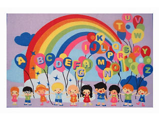 Educational Balloons Rug 51X78, , large
