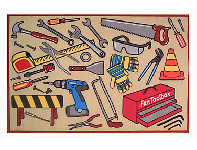 "Fun Toolbox Rug 51""X78"", , large"